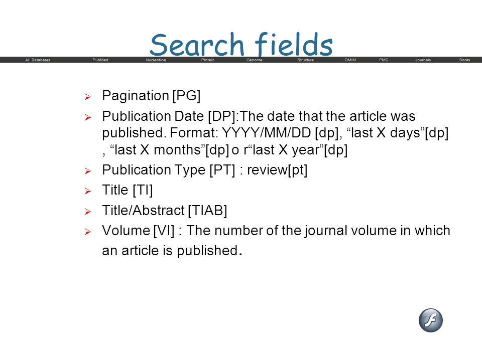 Search fields Pagination [PG]